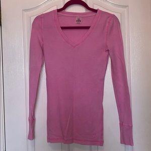 PINK Victoria's Secret Pink Thermal V-Neck Sweater